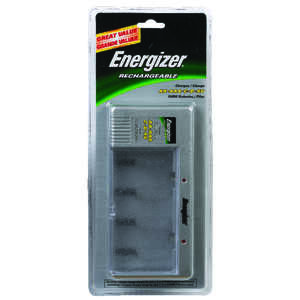 Energizer Battery Charger Multiple Size AA, AAA, C, D, or 9V NiMh Batteries