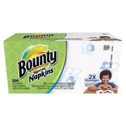 Bounty  Quilted  Napkins  1 ply 200 pk