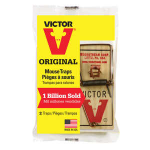Victor  Small  Snap  Animal Trap  For Mice 2 each