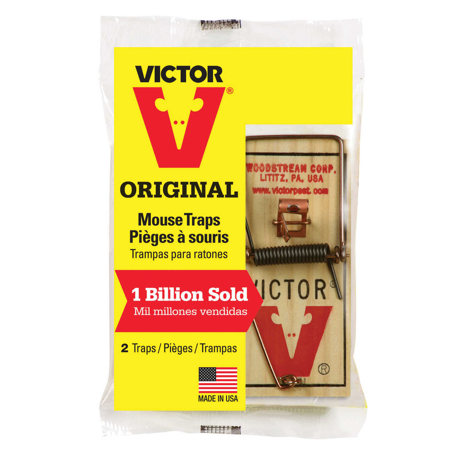 Victor  Small  Snap  Animal Trap  For Mice 2 pk