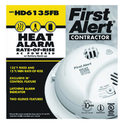 First Alert Hard-Wired w/Battery Back-up Ionization Heat Alarm