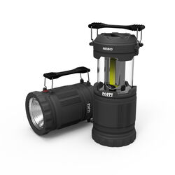 Nebo  Poppy  300 lumens Gray  LED  Pop Up Lantern and Spotlight