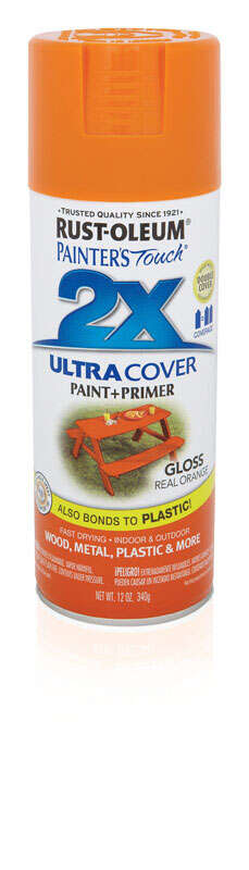 Rust-Oleum  Painter's Touch Ultra Cover  Gloss  Spray Paint  Red Orange  12 oz.