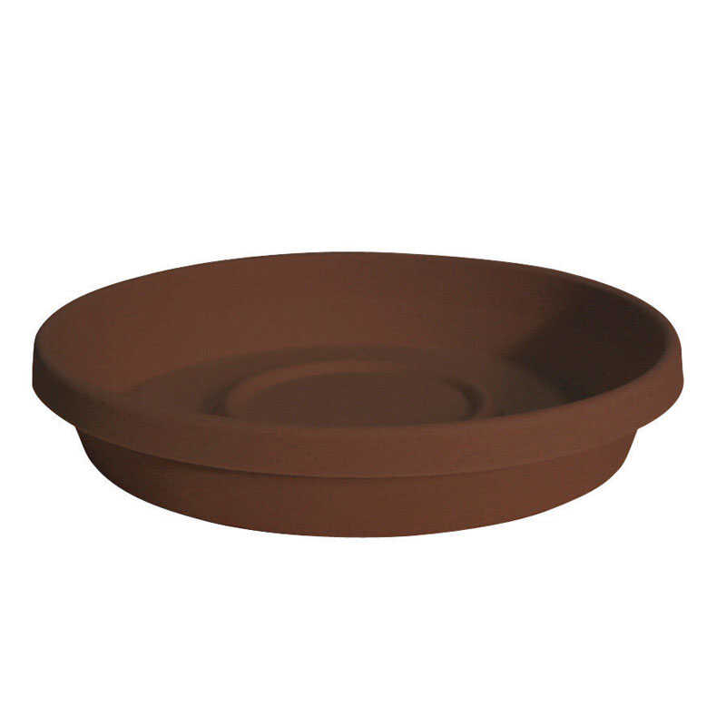 Bloem  Terratray  2.75 in. H x 16 in. Dia. Chocolate  Resin  Traditional  Tray