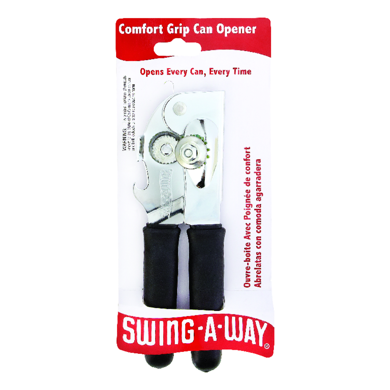 Swing-A-Way  Plated  Manual  Can Opener  Steel