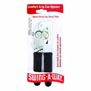 Swing-A-Way  Black  Steel  Manual  Can Opener
