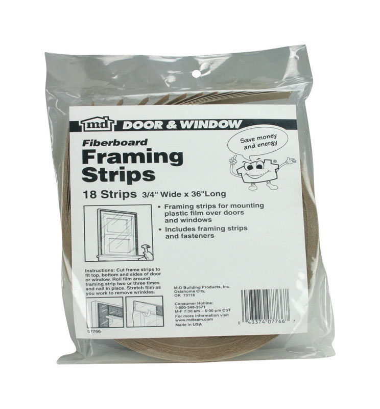 M-D Building Products  Brown  Fiber  36 in. L x 3/4 in.  Framing Strips  For Door and Window