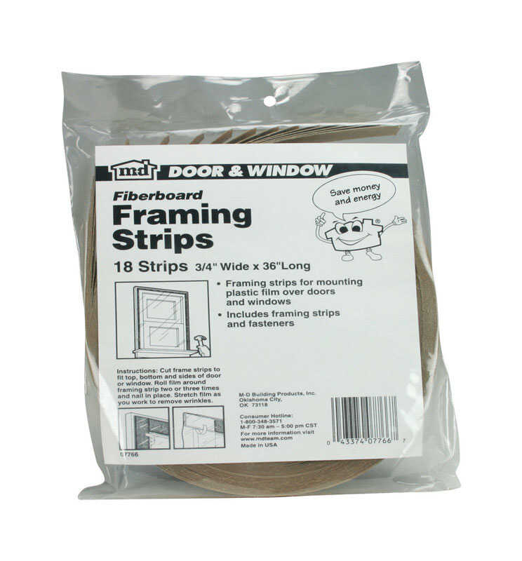 M-D Building Products  Brown  Fiber  Framing Strips  For Door and Window 36 in. L x 3/4 in.