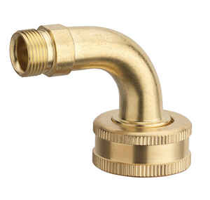 Ace  3/8 in. Compression   x 3/4 in. Dia. FHT  Brass  Dishwasher Elbow