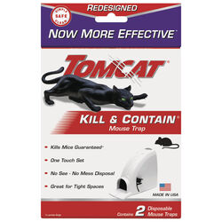 Tomcat  Kill & Contain  Covered  Animal Trap  For Mice 2 pk