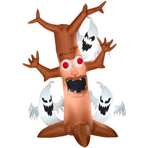 Gemmy  Scary Tree with Ghosts Trio  Lighted Halloween Inflatable  84 in. H x 36 in. W x 11-13/16 in.