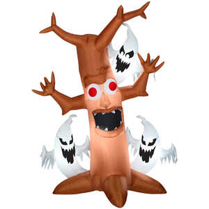 Gemmy  Scary Tree with Ghosts Trio  Lighted Halloween Inflatable  84 in. H x 11-13/16 in. L x 36 in.