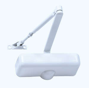 Tell  Ivory  Rugged Die-Cast  Hydraulic  Door Closer  Grade 3