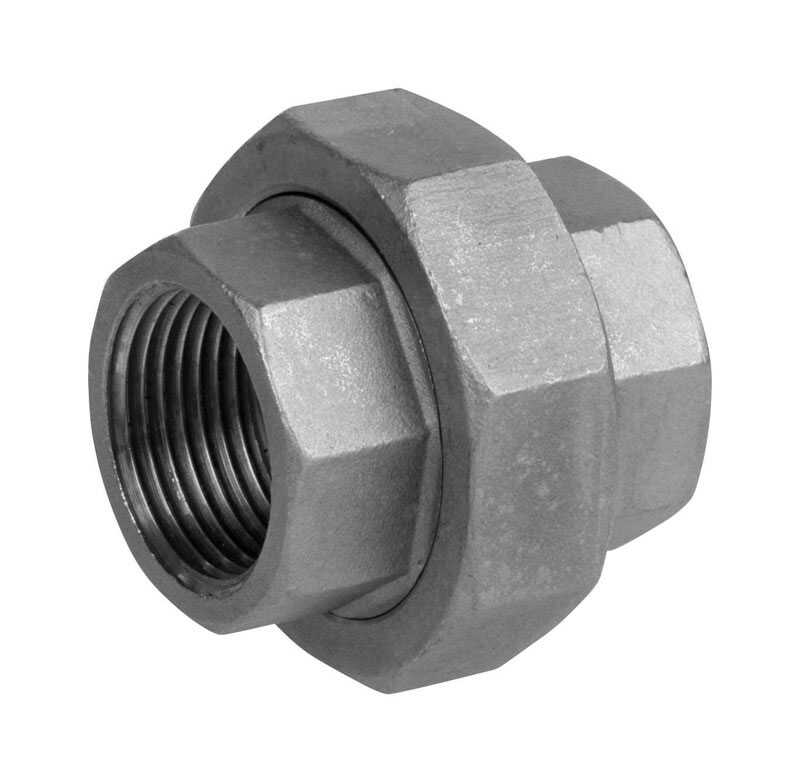 Smith-Cooper  1/8 in. FPT   x 1/8 in. Dia. Stainless Steel  Union