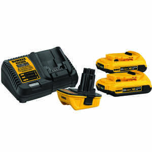 DeWalt  XR  20 max volts Lithium-Ion  Battery Charger Kit  4 pc.
