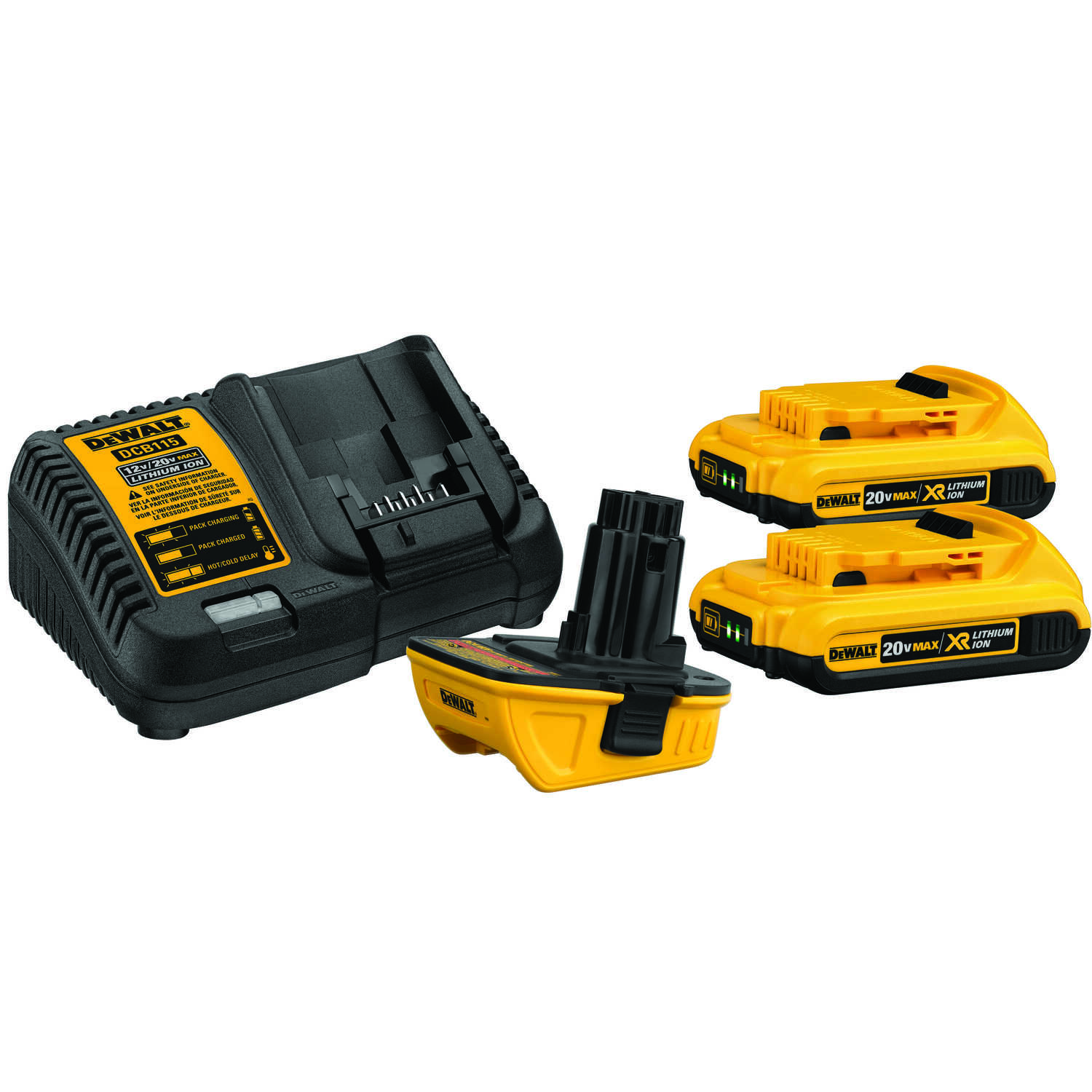 DeWalt  XR  20 max volts Lithium-Ion  4 pc. Battery Charger Kit
