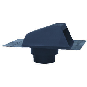 DeFlect-O  5 in. Dia. Plastic  Roof Cap With Tailpipe