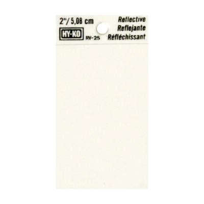 Hy-Ko  2 in. Reflective Black  Vinyl  Self-Adhesive  Special Character  Blank  1 pc.