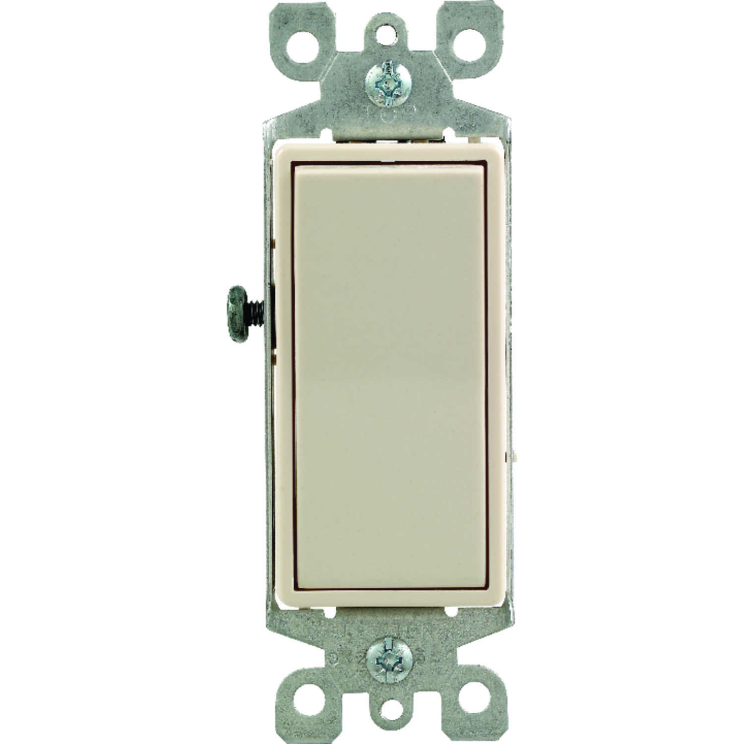 Leviton  Decora  15 amps Rocker  Switch  Light Almond  1 pk