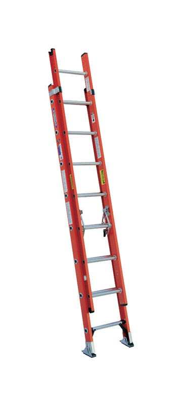 Werner  16 ft. H x 19 in. W Fiberglass  Type IA  Extension Ladder  300 lb.