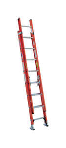 Werner  16 ft. H x 19 in. W Fiberglass  Extension Ladder  Type IA  300 lb.
