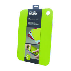 Joseph Joseph Pop 13.5 in. L x 9.5 in. W x 0.25 in. Polyethylene Cutting Board Set