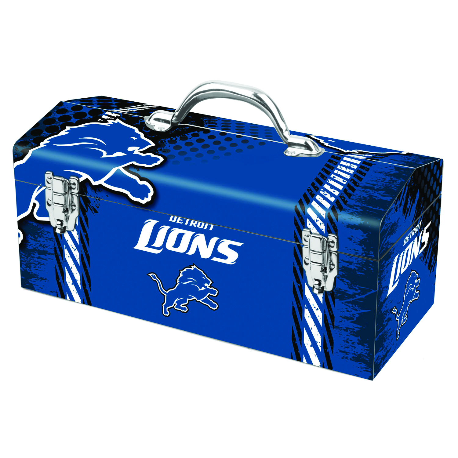 Sainty International  Detroit Lions  16.25 in. Steel  Art Deco Tool Box  7.1 in. W x 7.75 in. H NFL