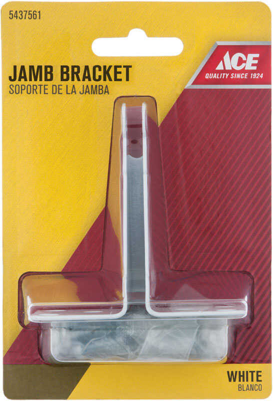 Ace  White  White  Steel  Jamb Bracket  1 pc.