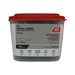 Ace  No. 6   x 1-5/8 in. L Phillips  Drywall Screws  5 lb. 1134 pk