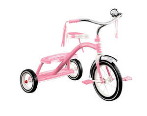Radio Flyer  Girls  Tricycle  Pink  12 in. Dia.