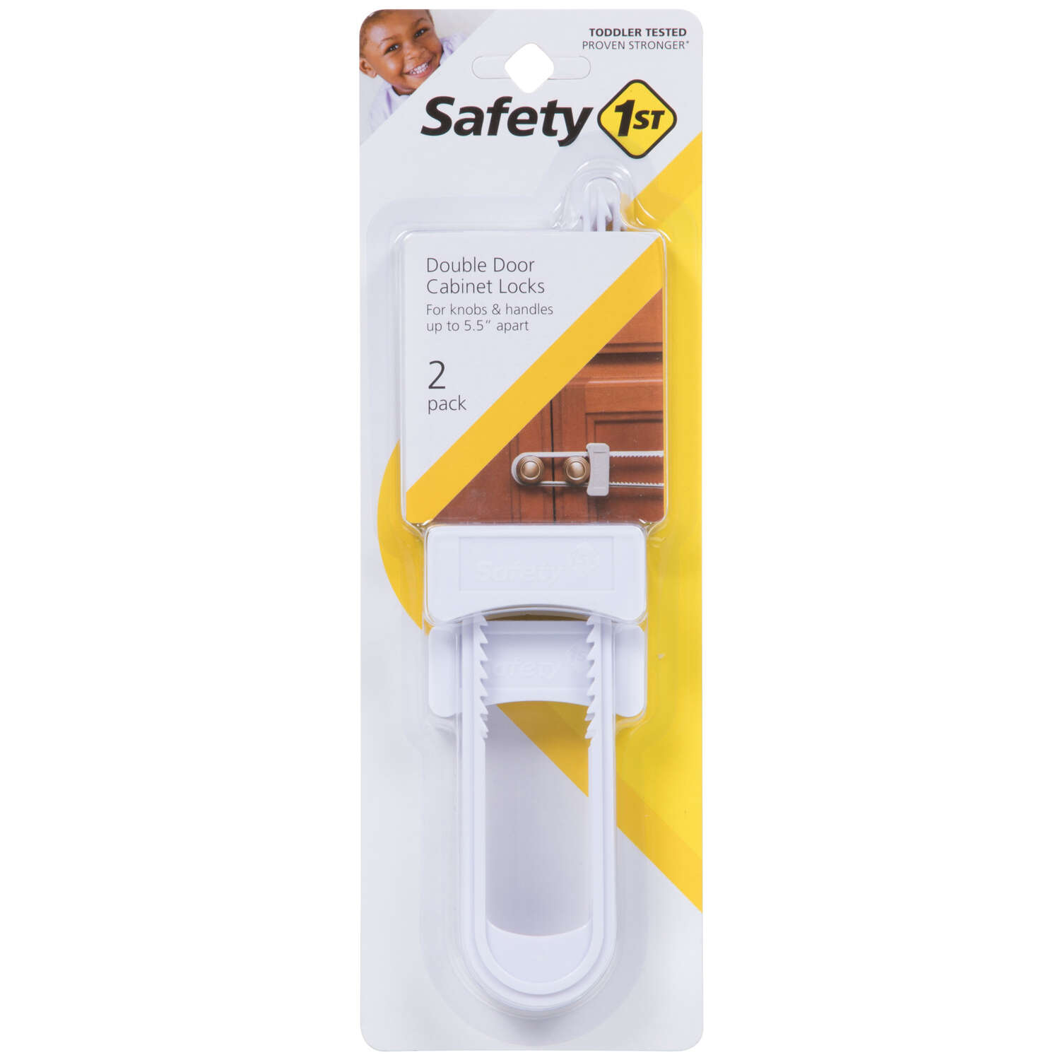 Safety 1st White Plastic Cabinet Slide Locks 2 pk
