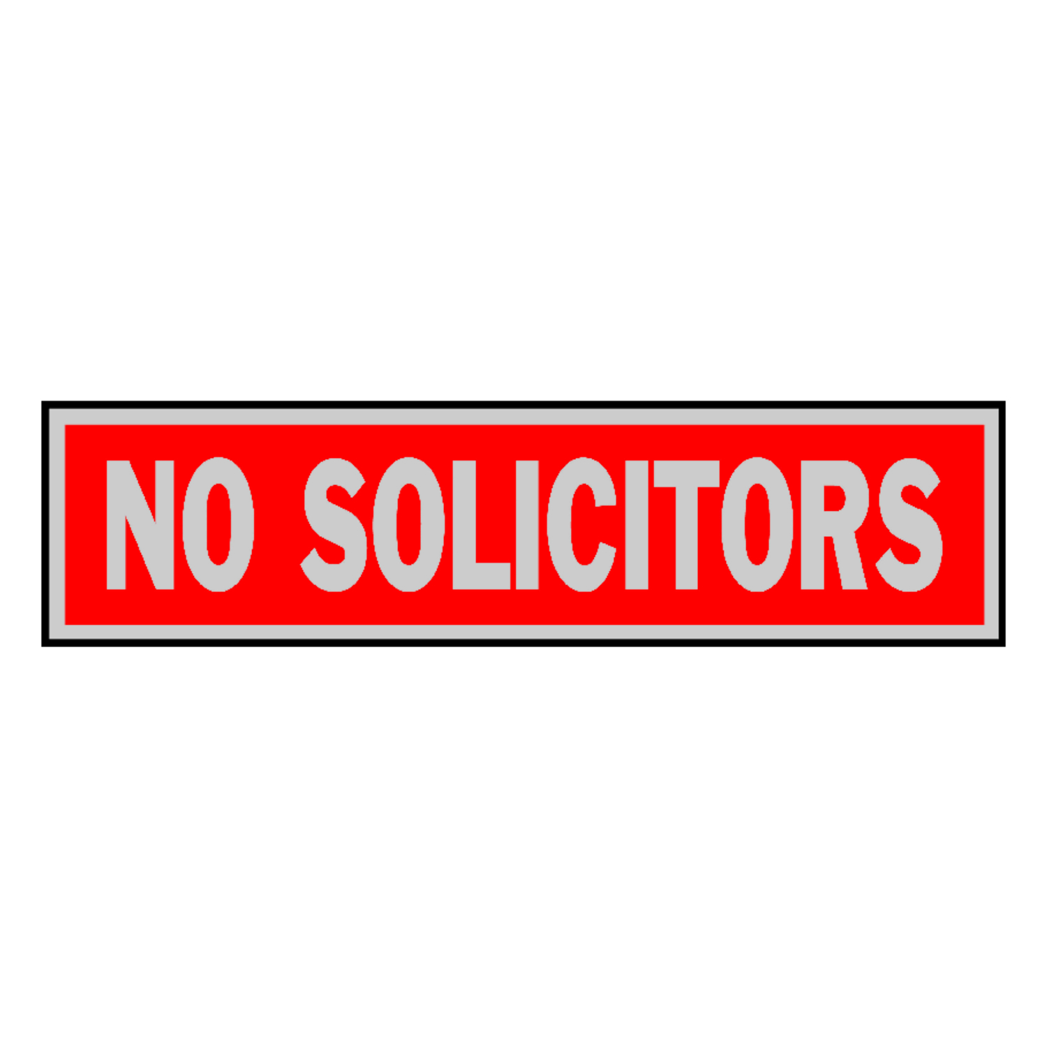 Hy-Ko  English  No Solicitors  8 in. W x 2 in. H Aluminum  Sign