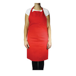 Mu Kitchen  Crimson  Cotton  Solid  Bibb Apron