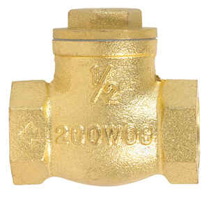 Mueller  1/2 in. Dia. 1/2 in. IPS  Brass  Swing  Check Valve