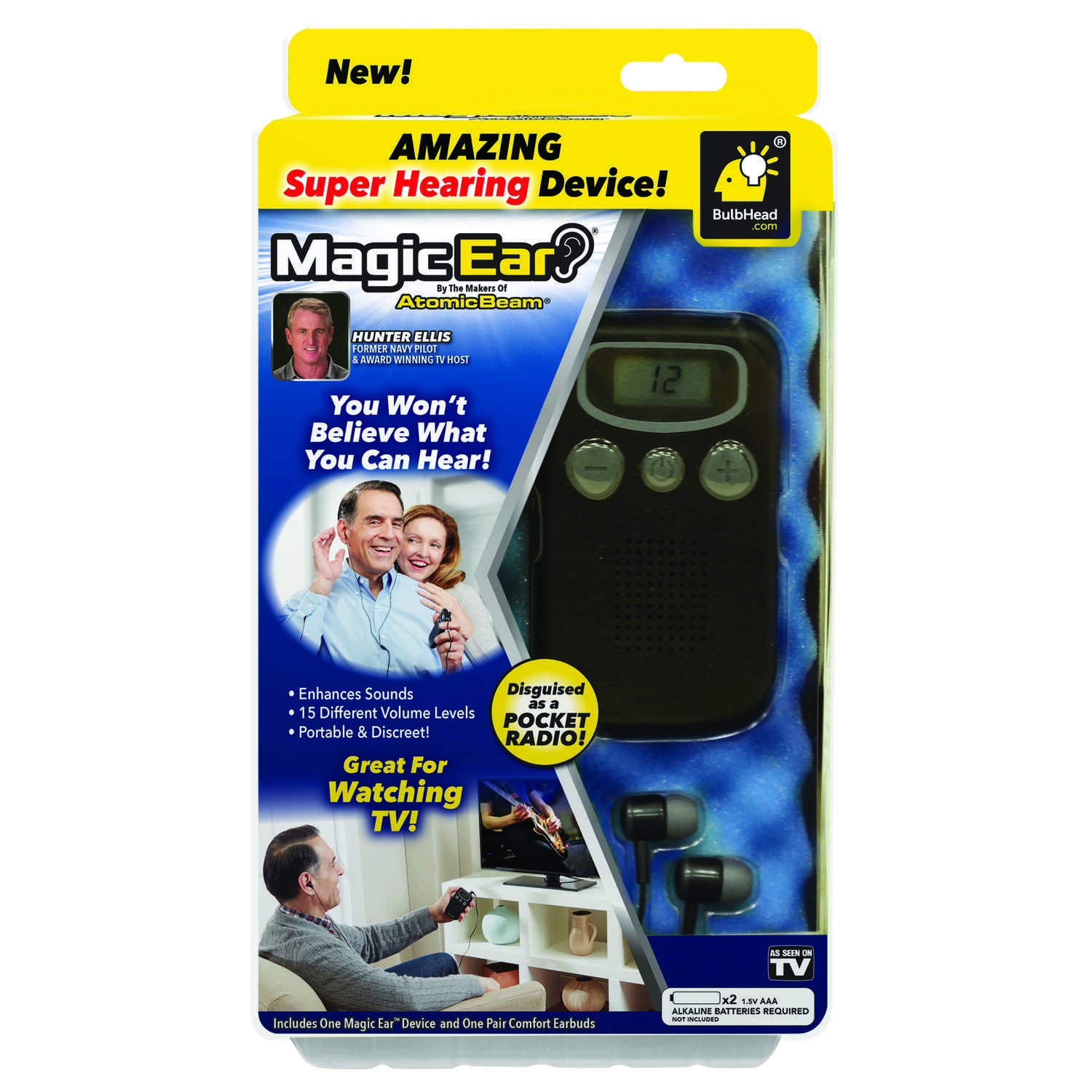 Atomic Beam  Magic Ear  As Seen on TV  Hearing Device  1 pk