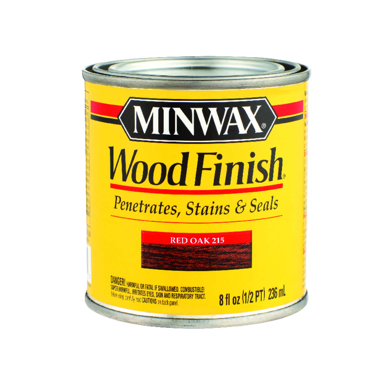 Minwax  Wood Finish  Semi-Transparent  Red Oak  Oil-Based  Wood Stain  1/2 pt.