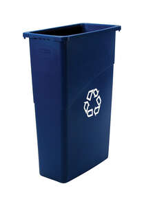 Rubbermaid Commercial  Slim Jim  23 gal. Plastic  Recycling Bin