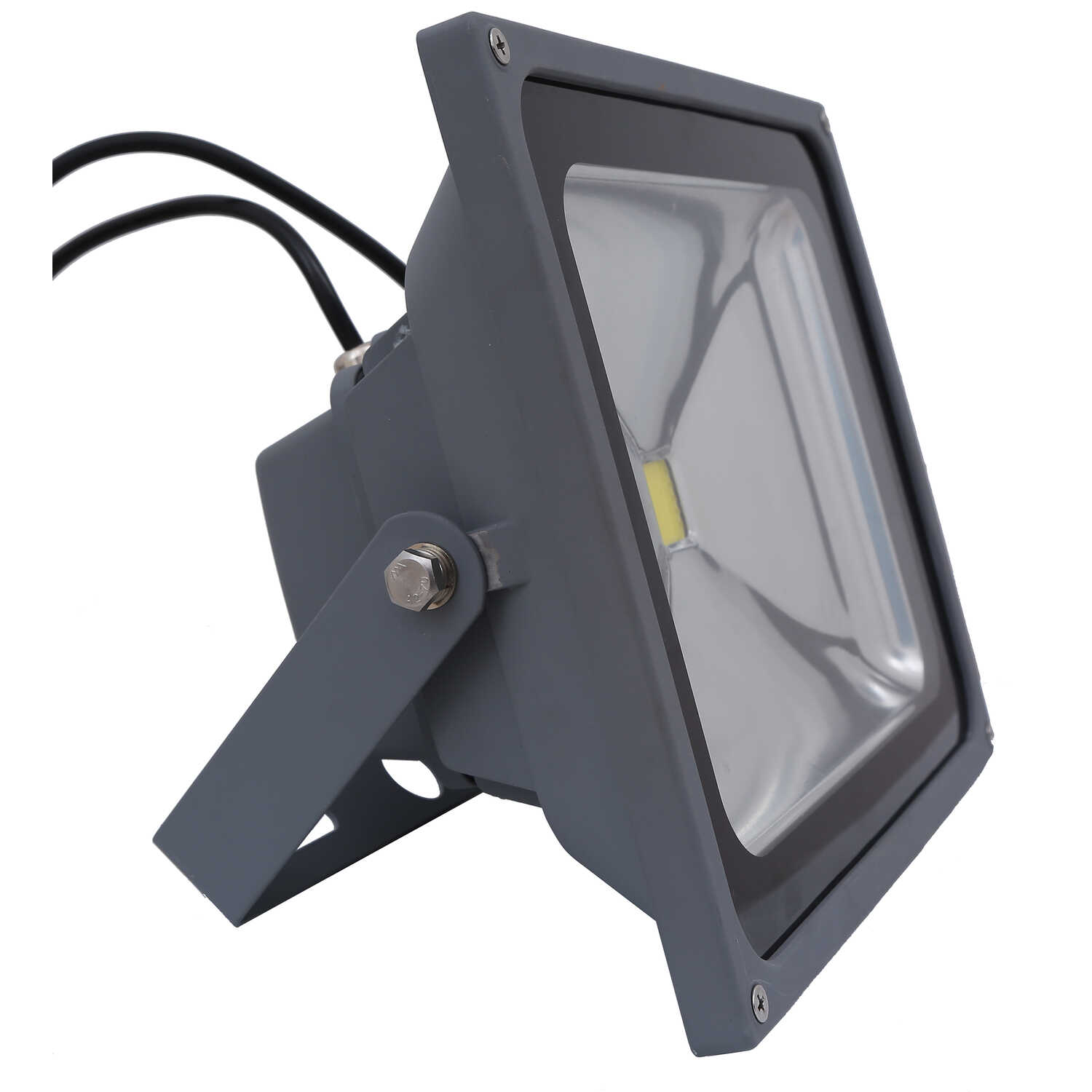 Ace  Dusk to Dawn  150 deg. LED  Gray  Outdoor Floodlight  Hardwired