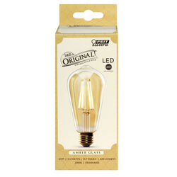FEIT Electric  ST19  E26 (Medium)  LED Bulb  Amber Soft White  60 Watt Equivalence 1 pk