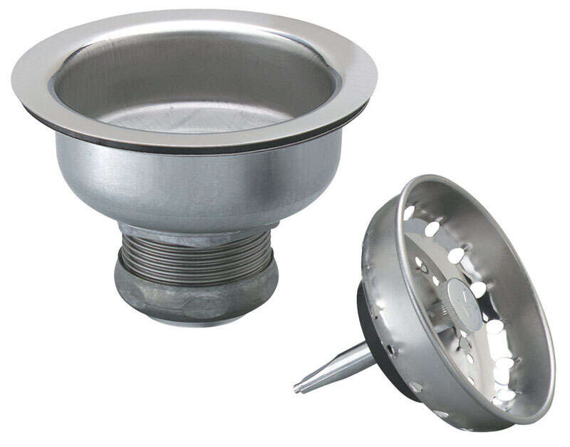 Ace  3-1/2 in. Dia. Stainless Steel  Sink Strainer