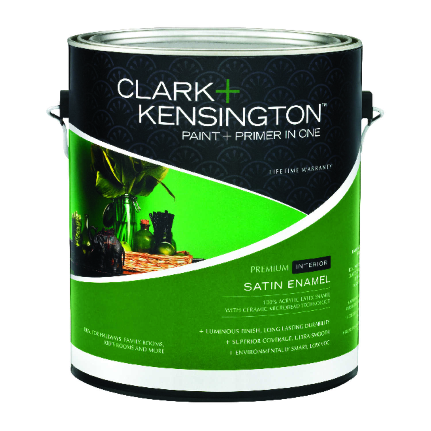 Clark+Kensington  Satin  Designer White  Acrylic Latex  1 gal. Paint and Primer