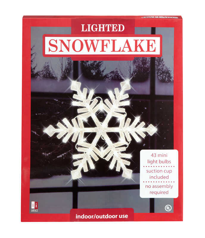 Impact Innovations  Snowflake  Silhouette  White  Nylon  1 each