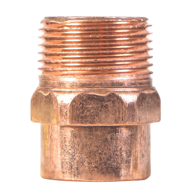 Elkhart  1 in. Dia. x 1 in. Dia. Copper To MIP  Copper  Pipe Adapter