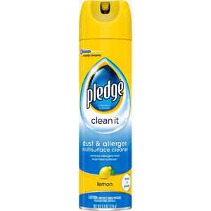 Pledge  Dust & Allergen  Lemon Scent Furniture Polish  9.7 oz. Spray