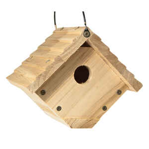 Audubon  6.25 in. H x 6.8 in. W x 7.13 in. L Red Cedar  Bird House