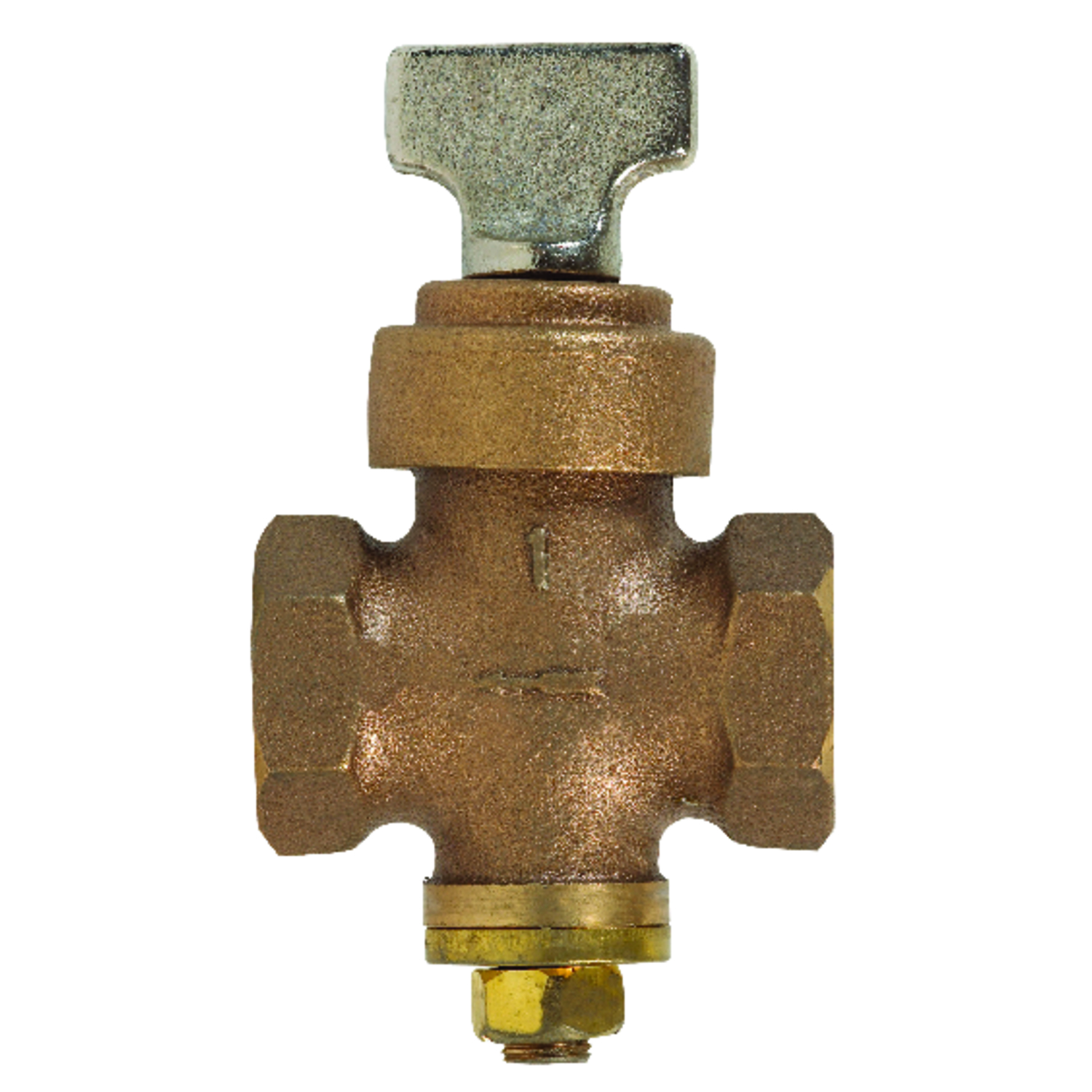 ProLine  1 in.  x 1 in.  Stop Valve  Stop and Drain  Bronze