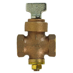 BK Products  ProLine  1 in. FIP   x 1 in.  FIP  Brass  Ground Key Stop & Drain Valve