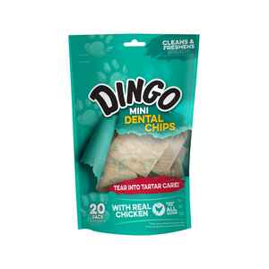 Dingo  Mini Dental Treat Chips  Chicken  Dog  Treats  20  6