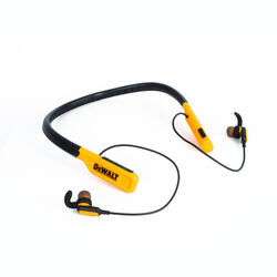 DeWalt  Jobsite Pro  Wireless Bluetooth Behind-the-Neck Headphones  1 pk