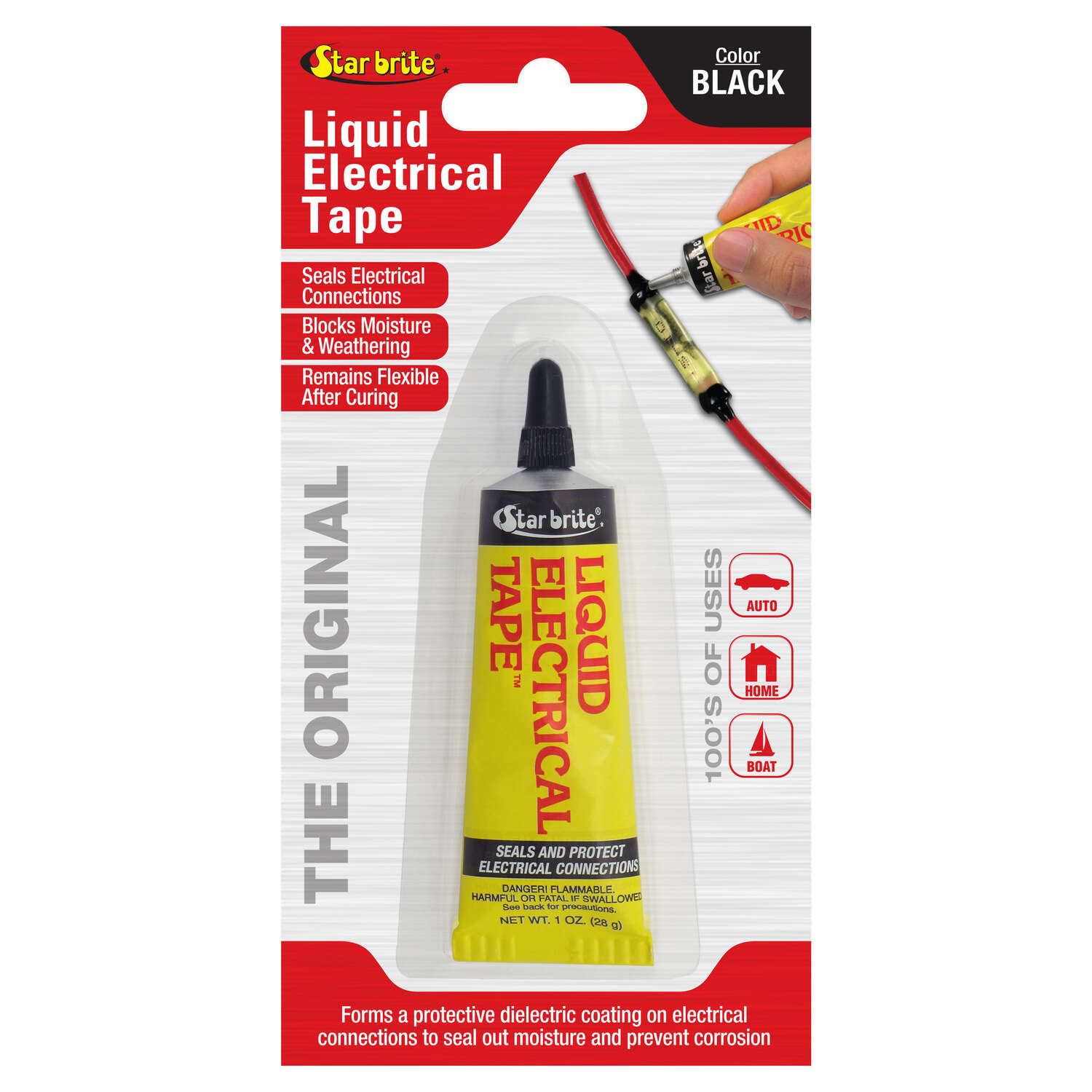 Star Brite  4 in. W x 7 in. L Black  Vinyl  Liquid Electrical Tape